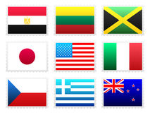 National flag set Royalty Free Stock Images