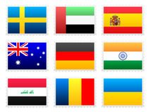 National flag set Stock Images