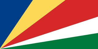 National flag of Seychelles. Background with flag of Seychelles vector illustration