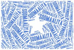 National flag of Somalia. Royalty Free Stock Images