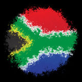 National flag of South Africa Stock Image