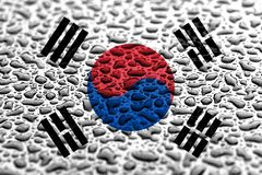 National flag of South Korea made of water drops. Background forecast concept.  royalty free stock photos