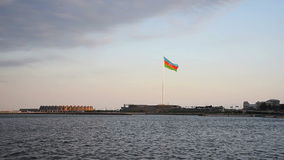 National Flag Square in Baku stock footage