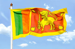 National flag of Sri Lanka Stock Image