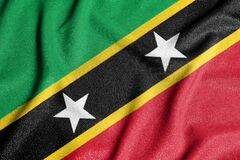 National flag of the St. Kitts and Nevis. The main symbol of an independent country. Flag of St. Kitts and Nevis. An attribute of