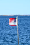 National flag on St Lawrence river Royalty Free Stock Photos