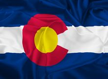 State Flag of Colorado vector illustration