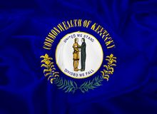 State Flag of Kentucky royalty free illustration