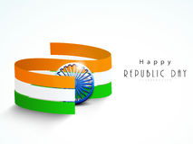 National flag stripes with ashoka wheel for Indian Republic Day Royalty Free Stock Photos