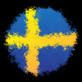 National flag of Sweden Royalty Free Stock Photos