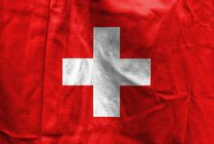 National flag of Switzerland royalty free stock photography