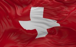 Flag of the Switzerland waving in the wind 3d render. National Flag of the Switzerland waving in the wind 3d render Royalty Free Stock Image