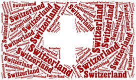 National flag of Switzerland Stock Photos