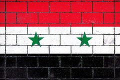 National flag of Syria royalty free stock image
