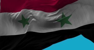 National Flag of Syria waving in the wind slow motion stock illustration