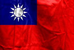 National flag of Taiwan Stock Photography