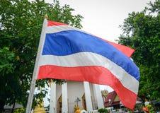 A national flag at temple in Bangkok, Thailand Stock Photos