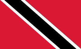 National flag of Trinidad and Tobago. Background with flag of Trinidad and Tobago stock illustration