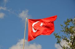The flag of Turkey. The national flag of Turkey stock photography