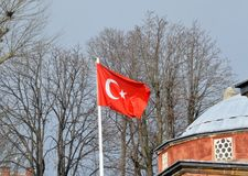 The flag of Turkey. The national flag of Turkey royalty free stock photography