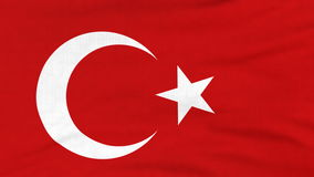 National flag of Turkey flying on the wind. National flag of Turkey flying and waving on the wind. Sate symbol of Turkish nation and government. Computer stock video