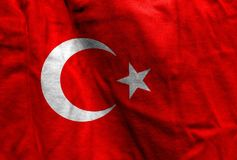 National flag of Turkey Royalty Free Stock Images