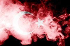 National flag of Turkey stock images