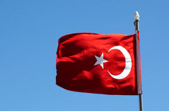 The national flag of Turkey Royalty Free Stock Image
