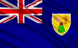 Flag of Turks and Caicos Islands UK - Cockburn Town vector illustration