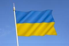 National Flag of Ukraine Stock Images