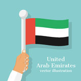 National flag of United Arab Emirates. Stock Image