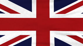 National flag of United Kingdom flying on the wind stock video footage