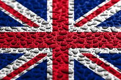 National flag of United Kingdom made of water drops. Background forecast concept vector illustration