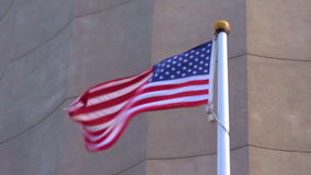 The national flag of United State of America fly in slow motion stock footage
