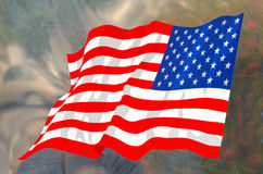 The national flag of United State of America on metal surface Stock Images