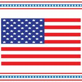 The national flag of the United States, also known as the Stars and Stripes. A holiday of memory and veterans royalty free illustration