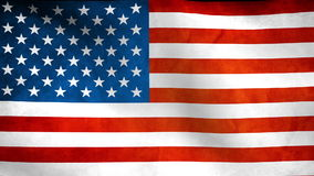 National flag of United States Of America, USA. Grunge stock footage