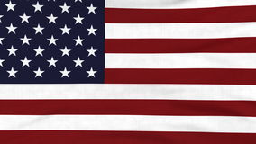 National flag of United States flying on the wind. National flag of United States flying and waving on the wind. Sate symbol of US nation and government stock video