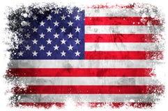 National flag of United States. On grunge concrete background stock illustration