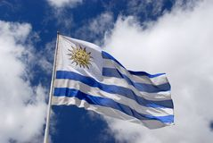 National Flag of Uruguay Royalty Free Stock Photography