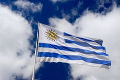 National Flag of Uruguay Royalty Free Stock Photos