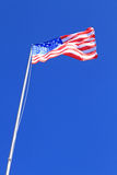 National flag of USA. On sky background Stock Photography