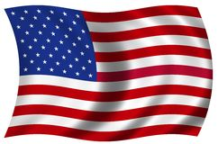National Flag of the USA Stock Photo
