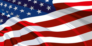 The national flag of the USA. The national flag of the United States of America Stock Photography