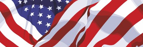 The national flag of the USA. The national flag of the United States of America Royalty Free Stock Photos