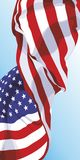 The national flag of the USA. The national flag of the United States of America Stock Photos