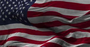 National Flag of USA waving in the wind slow motion stock video footage