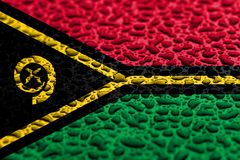 National flag of Vanuatu made of water drops. Background forecast concept stock photography