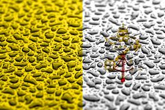 National flag of Vatican made of water drops. Background forecast concept royalty free stock image