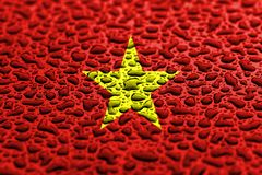 National flag of Vietnam made of water drops. Background forecast concept royalty free stock photography